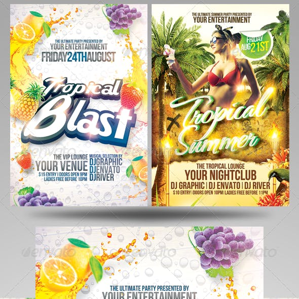 Summer Party Flyers Bundle 2