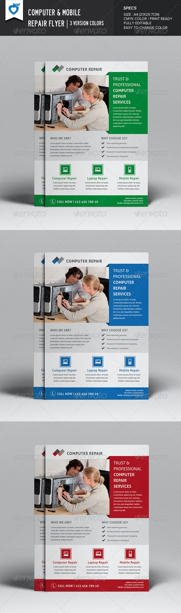 Computer & Mobile Repair Flyer - Corporate Flyers