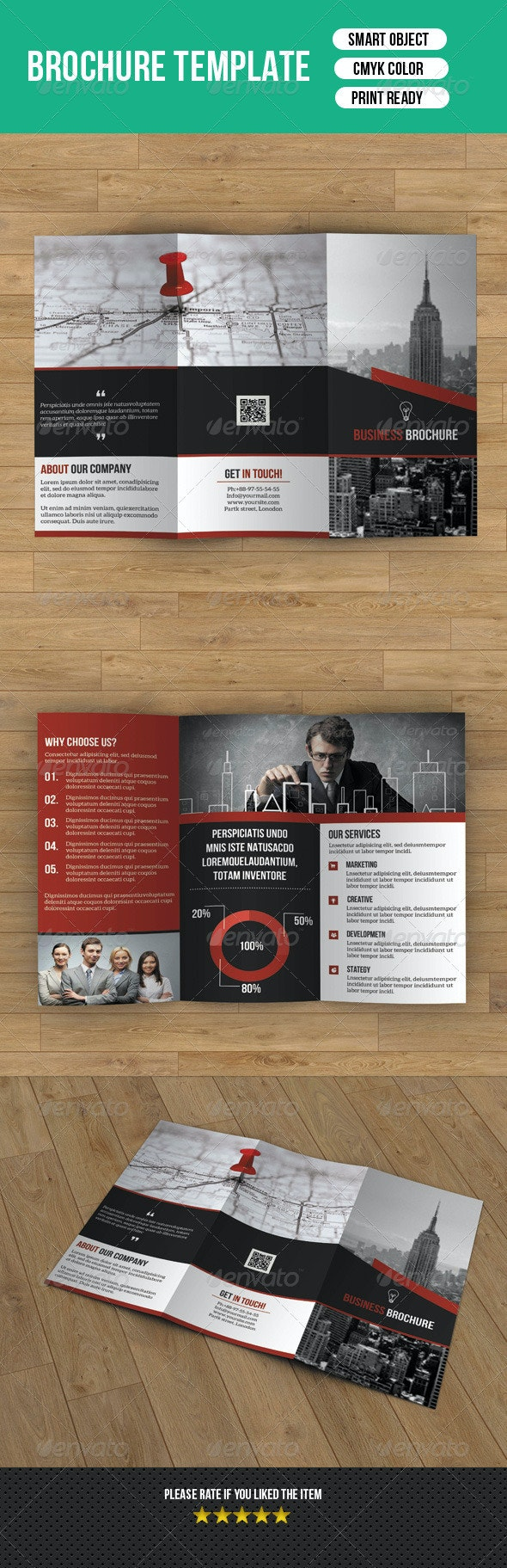 Creative Trifold Business Brochure-V31 - Corporate Brochures