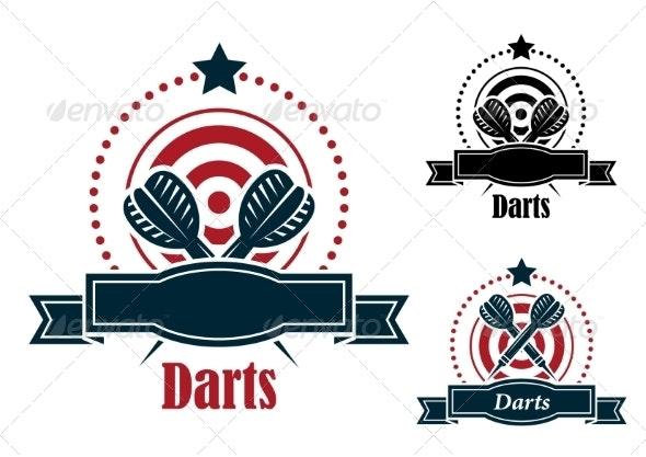 Darts Emblem - Sports/Activity Conceptual