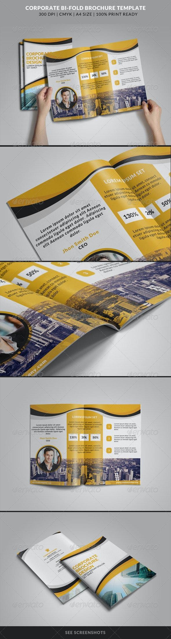 Corporate Bi-Fold Brochures Template 3 - Corporate Brochures