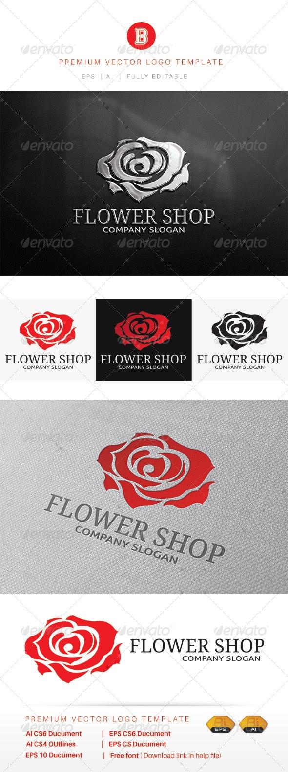 Flower Shop - Nature Logo Templates