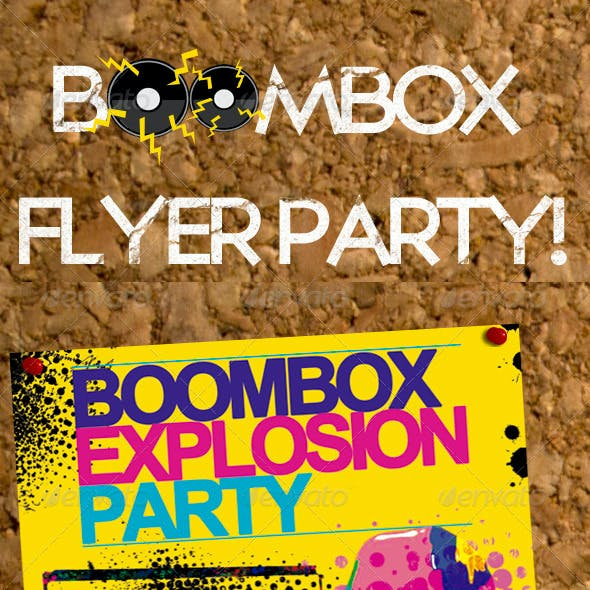 Boombox Party Flyer Template