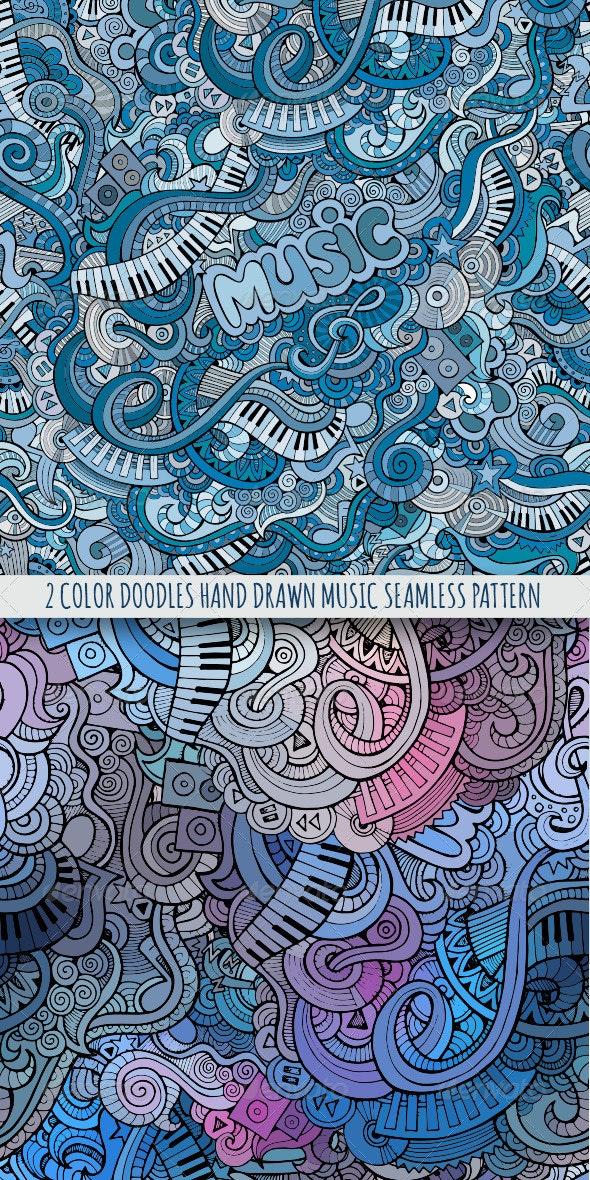 2 Doodles Music Color Seamless Pattern - Patterns Decorative