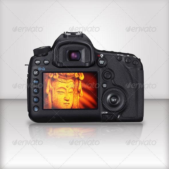 EOS camera Studio MockUp - Miscellaneous Product Mock-Ups