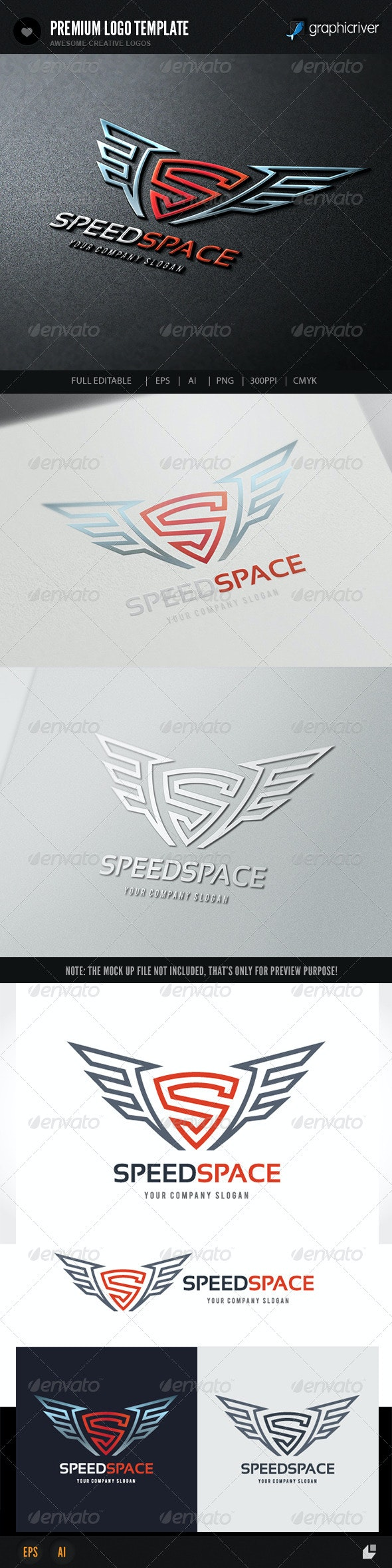 Speed Space Logo - Letters Logo Templates