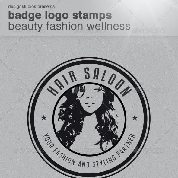 Badge Logo Stamps - Beauty Fashion Wellness