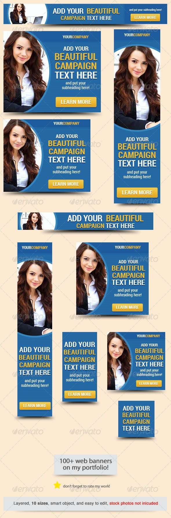 Corporate Web Banner Design Template 45 - Banners & Ads Web Elements