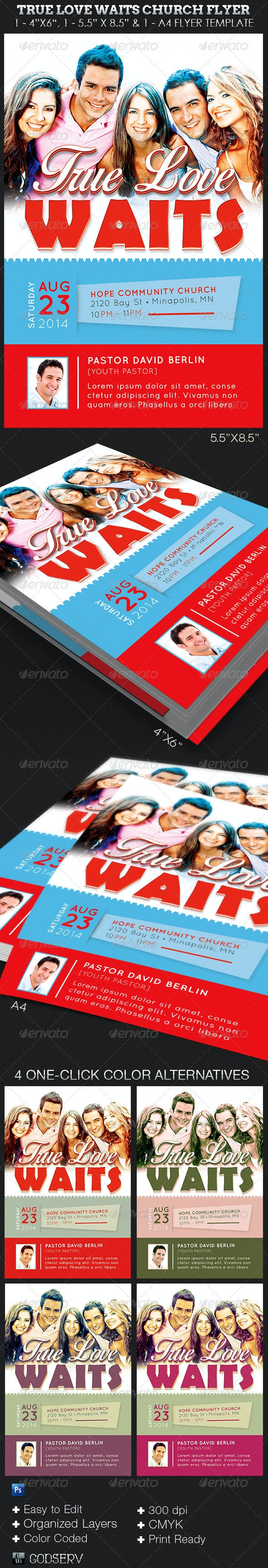 True Love Waits Church Flyer Template - Church Flyers