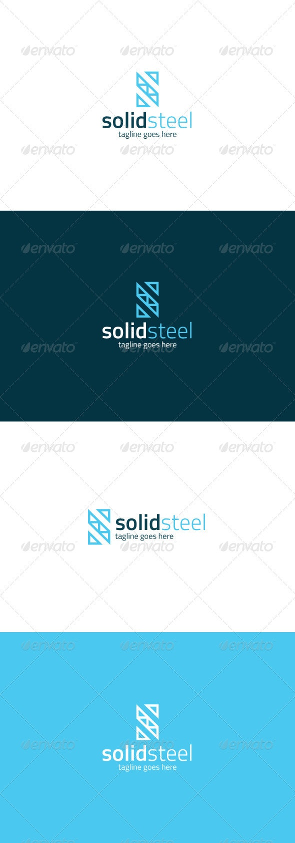 Solid Steel Logo — Letter S - Letters Logo Templates