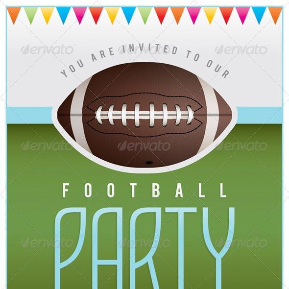 Vector Football Party Flyer