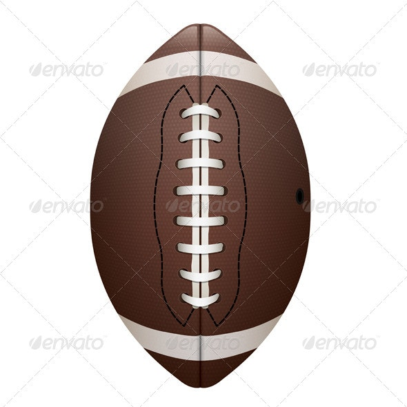 Vector Realistic Isolated Football Illustration - Sports/Activity Conceptual