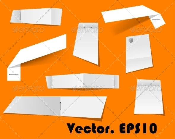 Paper Scraps and Notes Attached with Stapler - Miscellaneous Conceptual