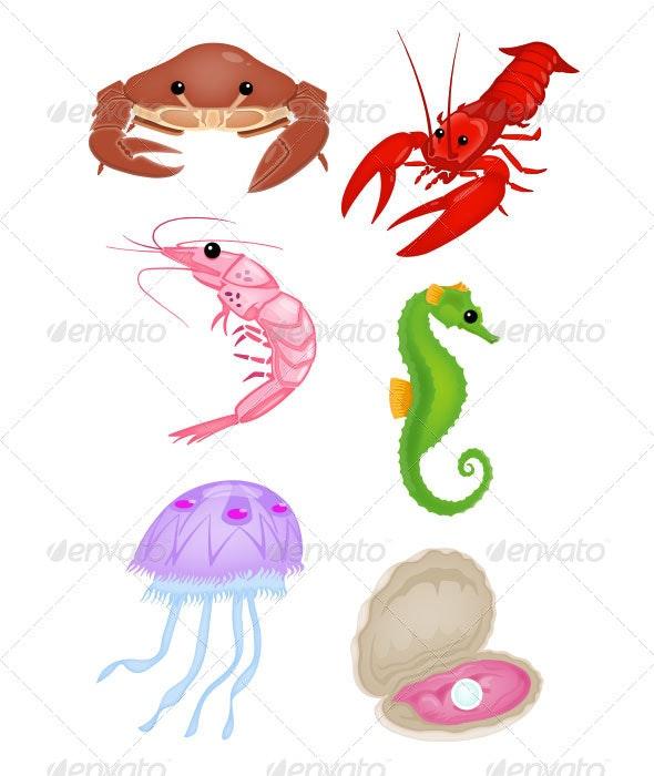 Sea Life Set - Vectors