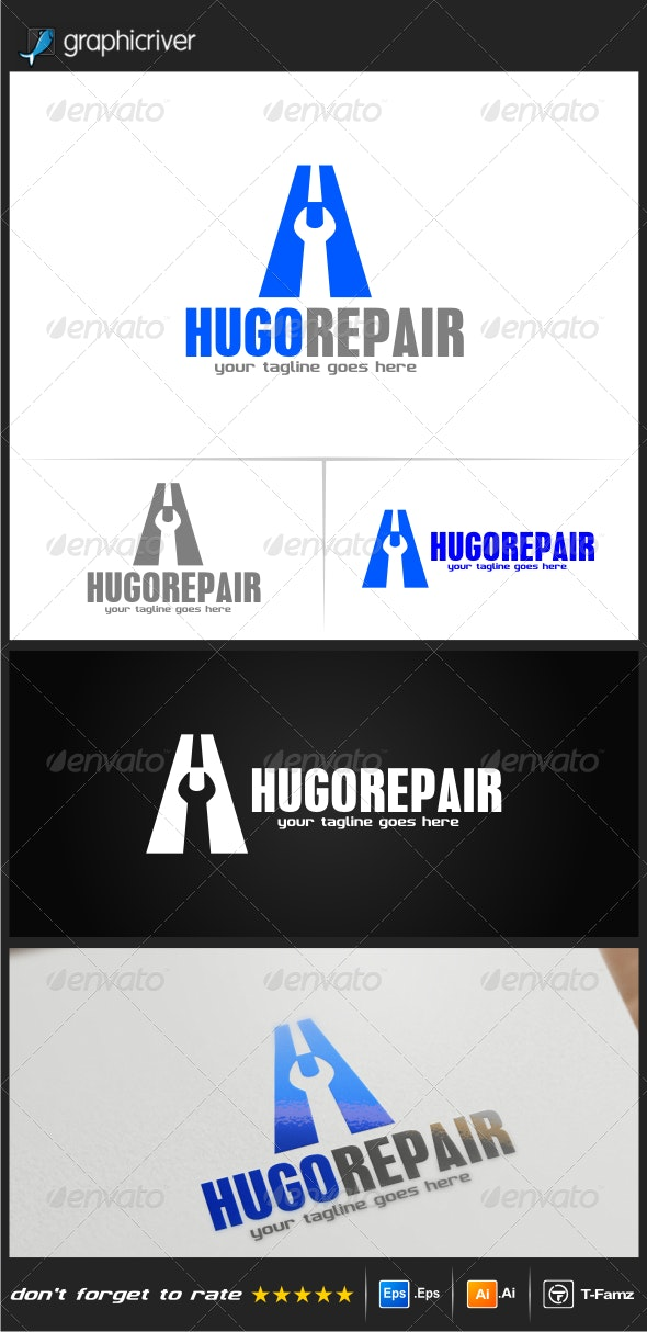 Hugo Repair Logo Templates - Objects Logo Templates