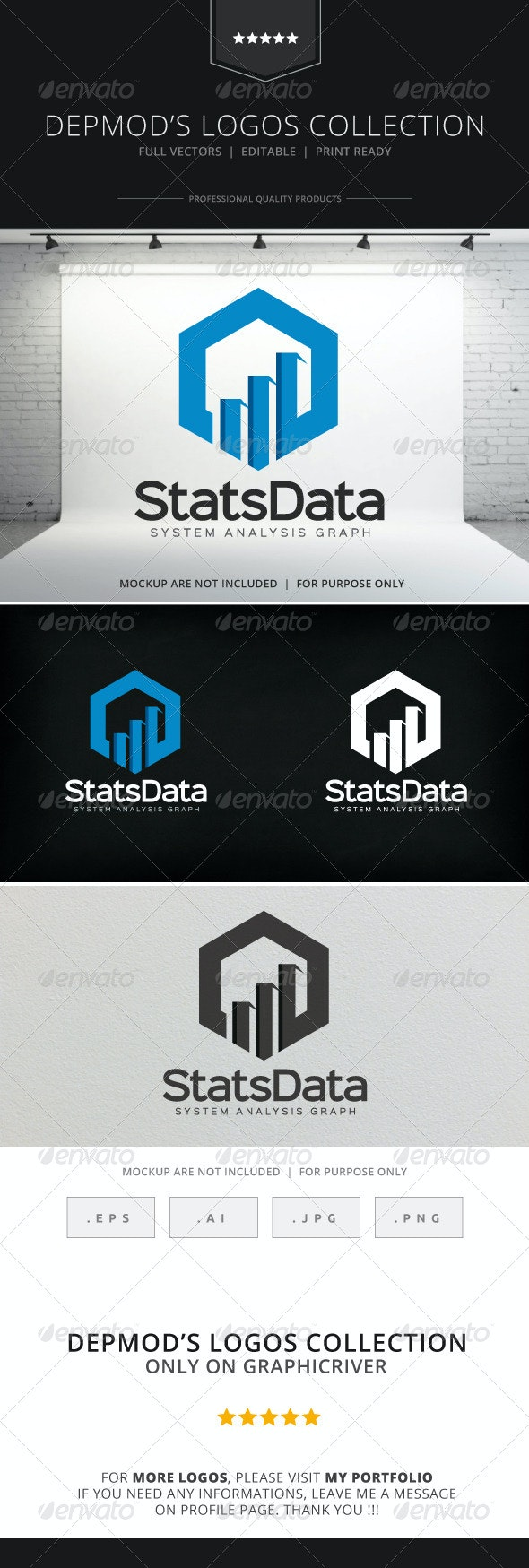 Stats Data Logo - Symbols Logo Templates
