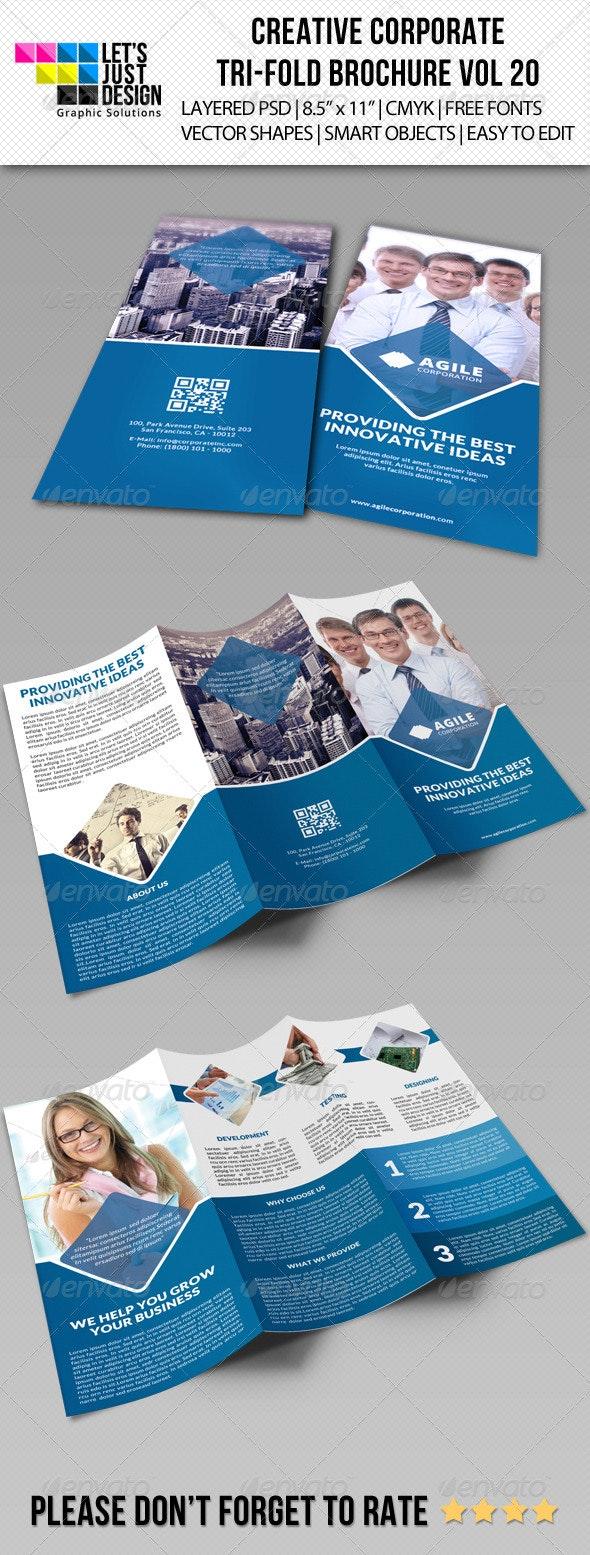 Creative Corporate Tri-Fold Brochure Vol 20 - Corporate Brochures