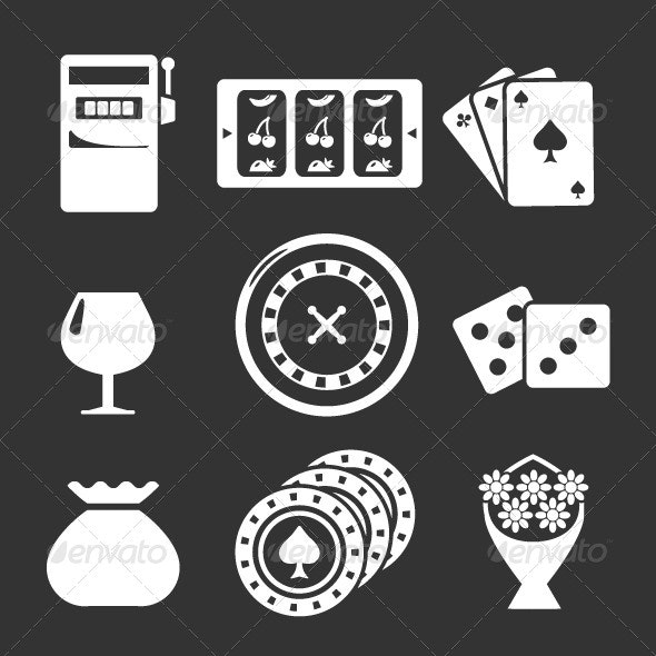 Set Icons of Casino - Man-made objects Objects