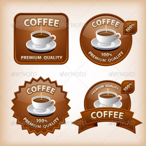 Coffee Labels - Food Objects
