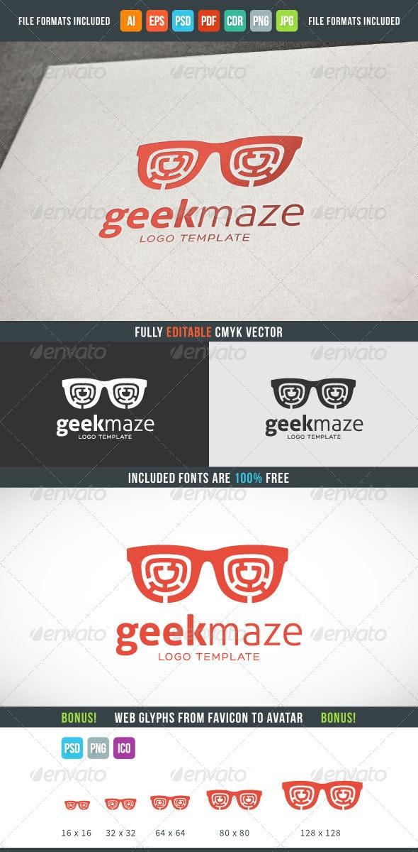 Geek Maze Logo Template - Logo Templates