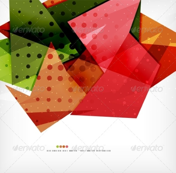 Modern 3D Abstract Shapes on White Layout - Miscellaneous Vectors