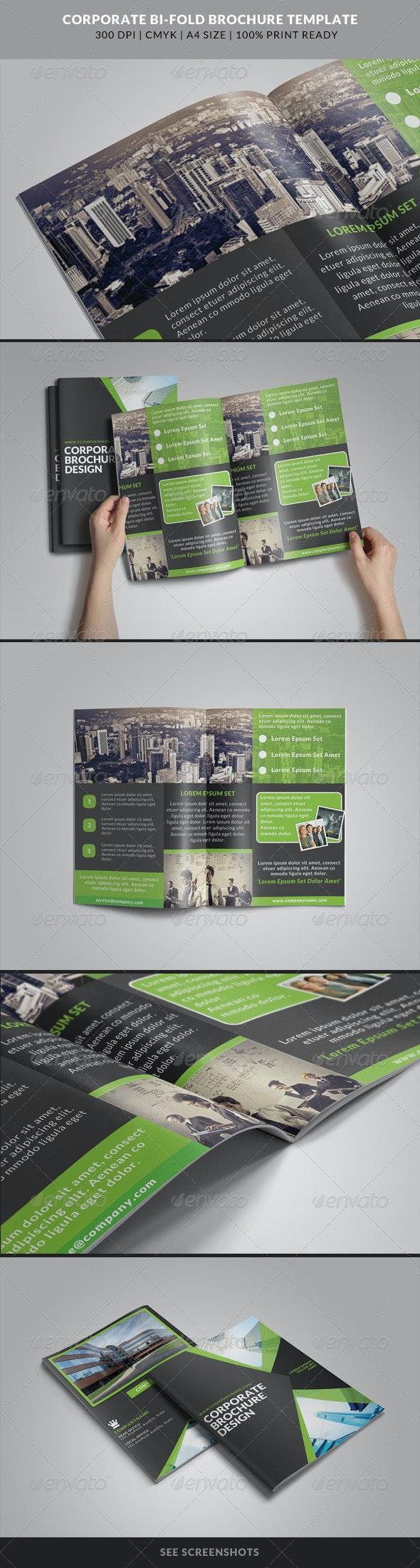 Corporate Bi-Fold Brochures Template 4 - Corporate Brochures