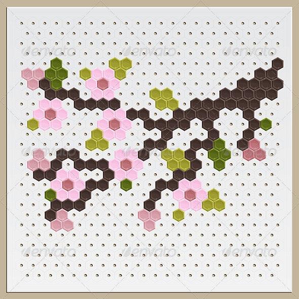 Mosaic Sakura - Flowers & Plants Nature