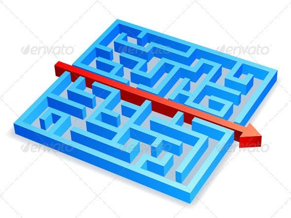 Maze Concept - Conceptual Vectors