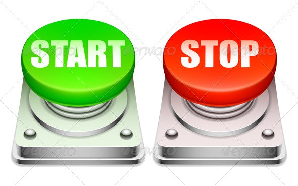 Red and Green Buttons - Conceptual Vectors