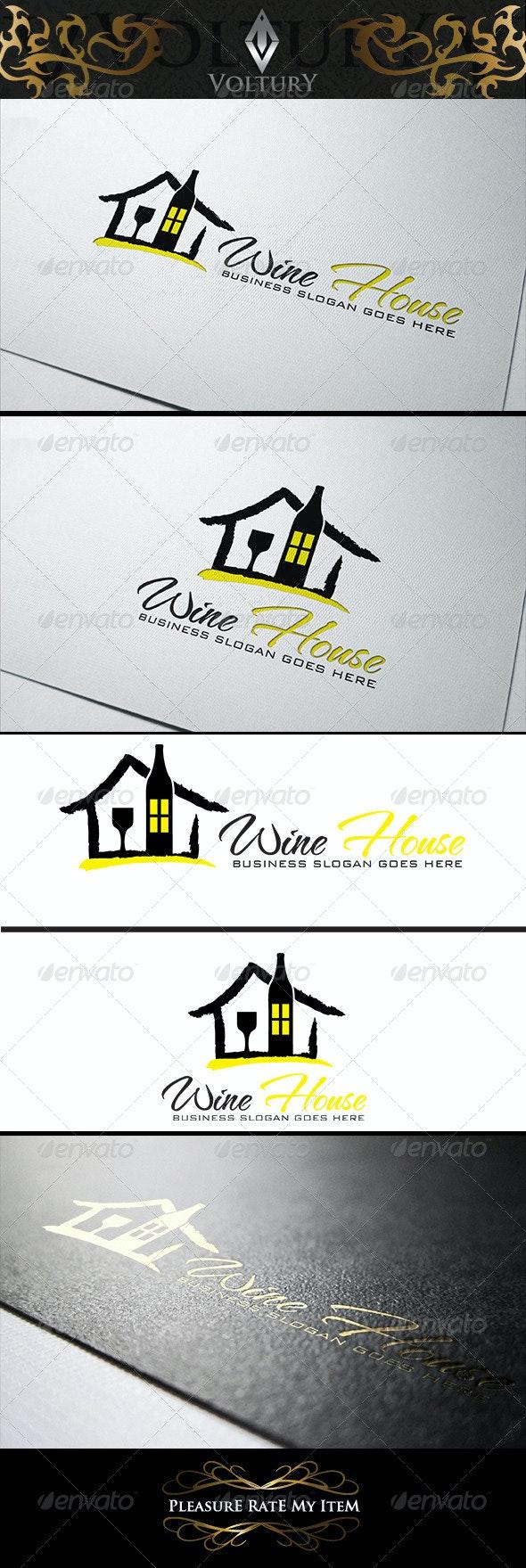 Wine House Logo - Food Logo Templates