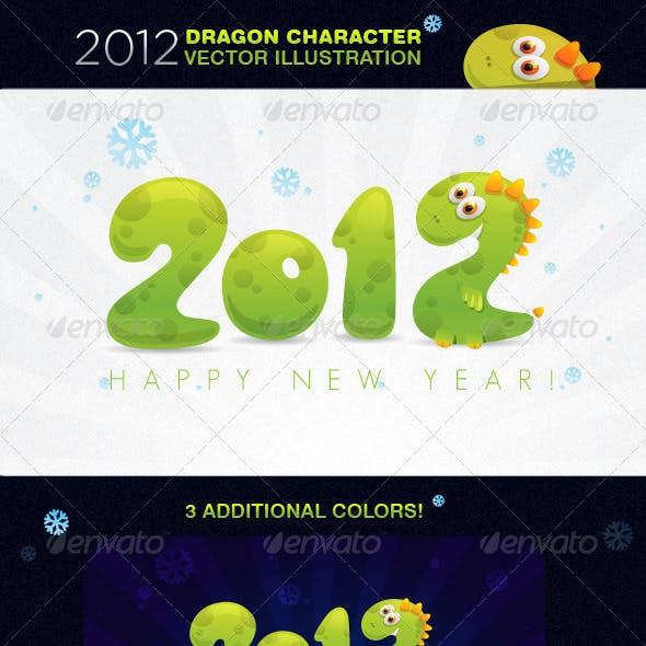 2012 Dragon Character Vector Illustration