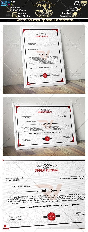 Simple Multipurpose Certificate 01 - Certificates Stationery