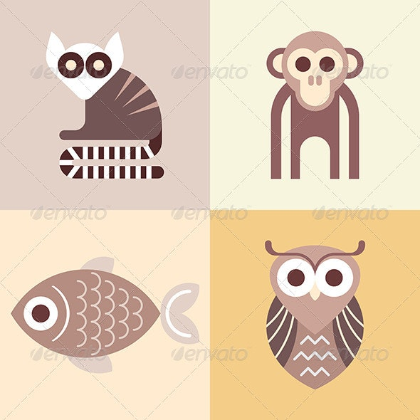 Animal Vector ICons - Animals Characters