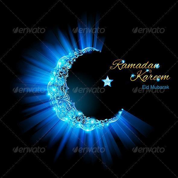 Greeting Card of Muslim Month Ramadan - Religion Conceptual