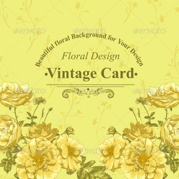 Roses Greeting Card - Patterns Decorative