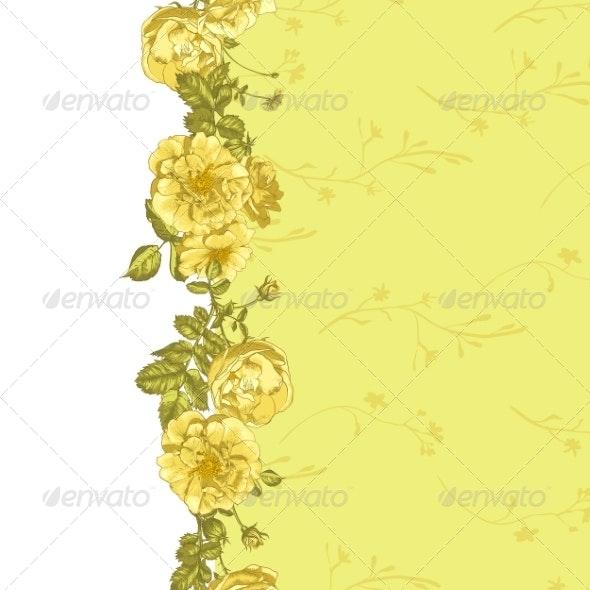Roses Border - Patterns Decorative