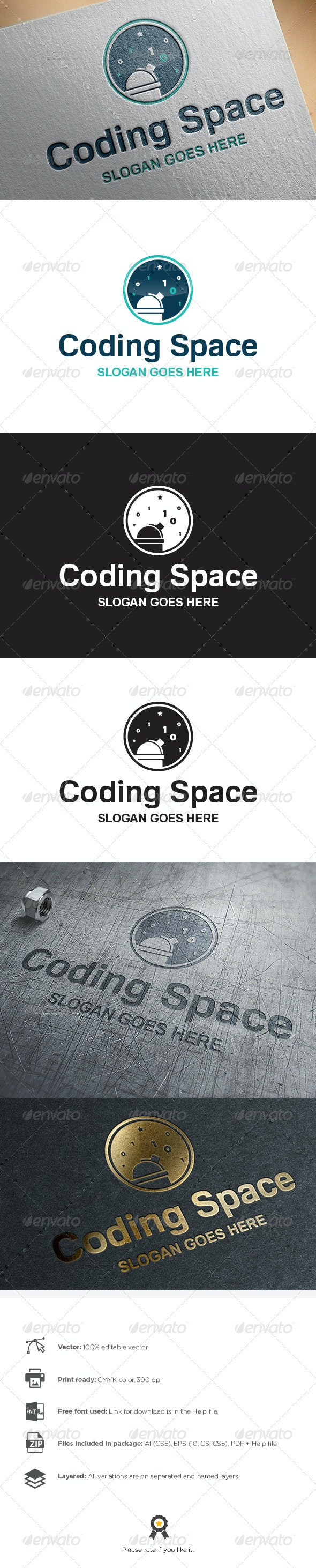 Coding Space Logo - Objects Logo Templates
