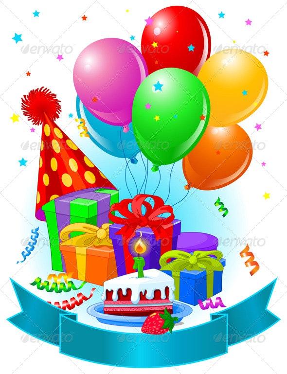 Birthday Gifts and Decoration - Decorative Symbols Decorative