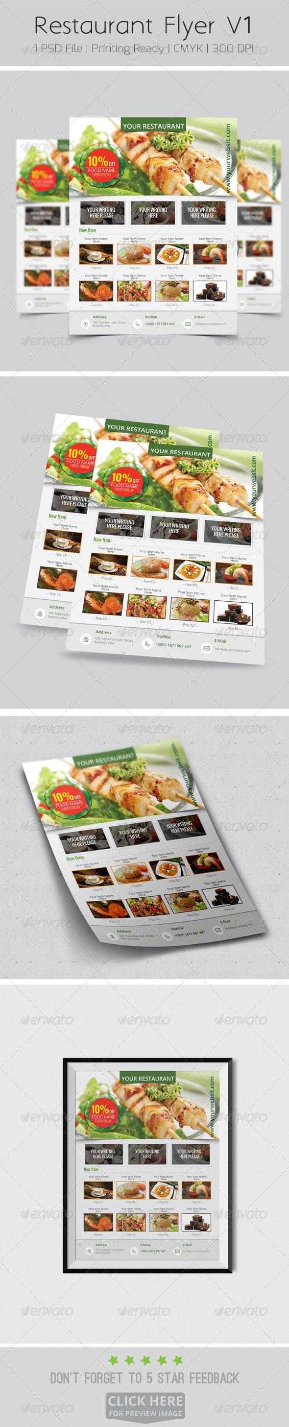 Restaurant Flyer V1 - Restaurant Flyers