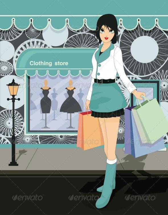 Women Shopping - Characters Vectors