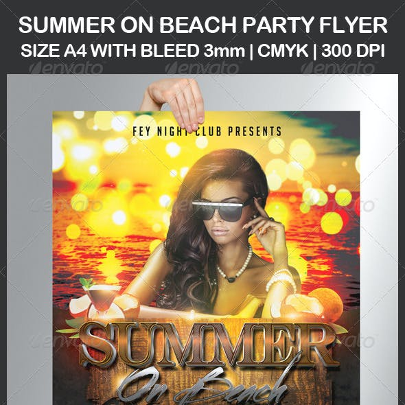 Summer on Beach Party Flyer