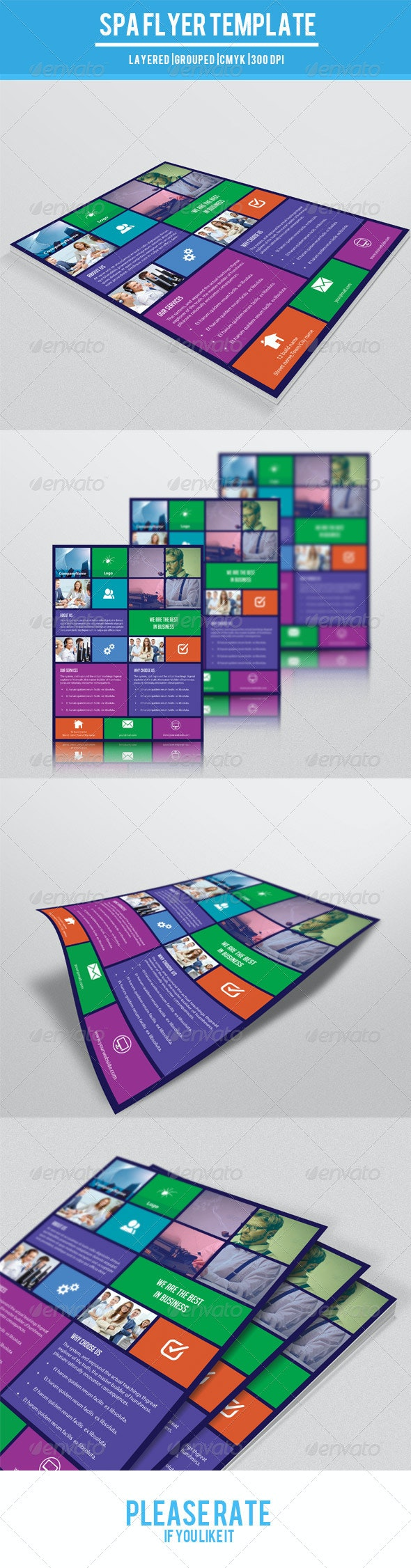 Metro Style Corporate Flyer-V77 - Corporate Flyers
