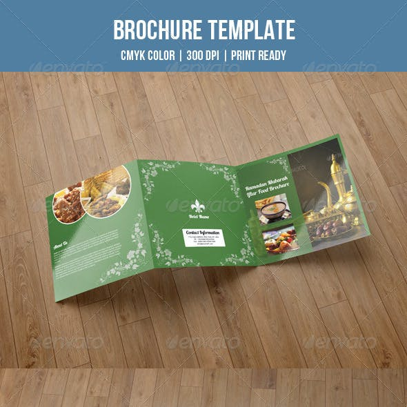 Square Trifold for Food Menu-V10