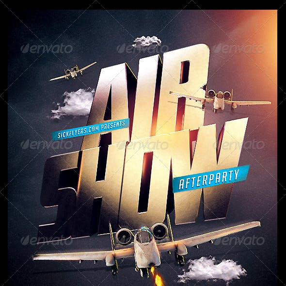 Airshow Party Flyer Template PSD