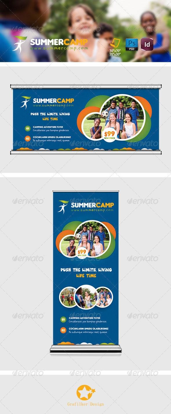Summer Camp Billboard Templates - Signage Print Templates