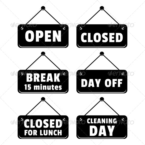 Open and Closed Signs - Retail Commercial / Shopping