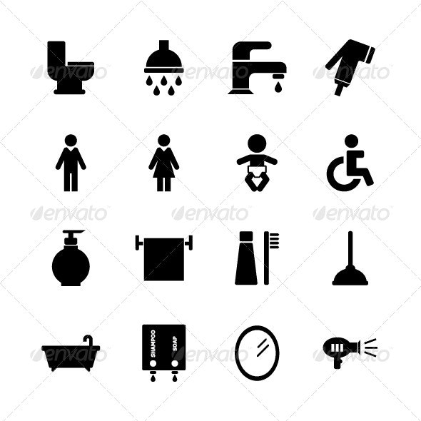 Bathroom Icon - Miscellaneous Characters