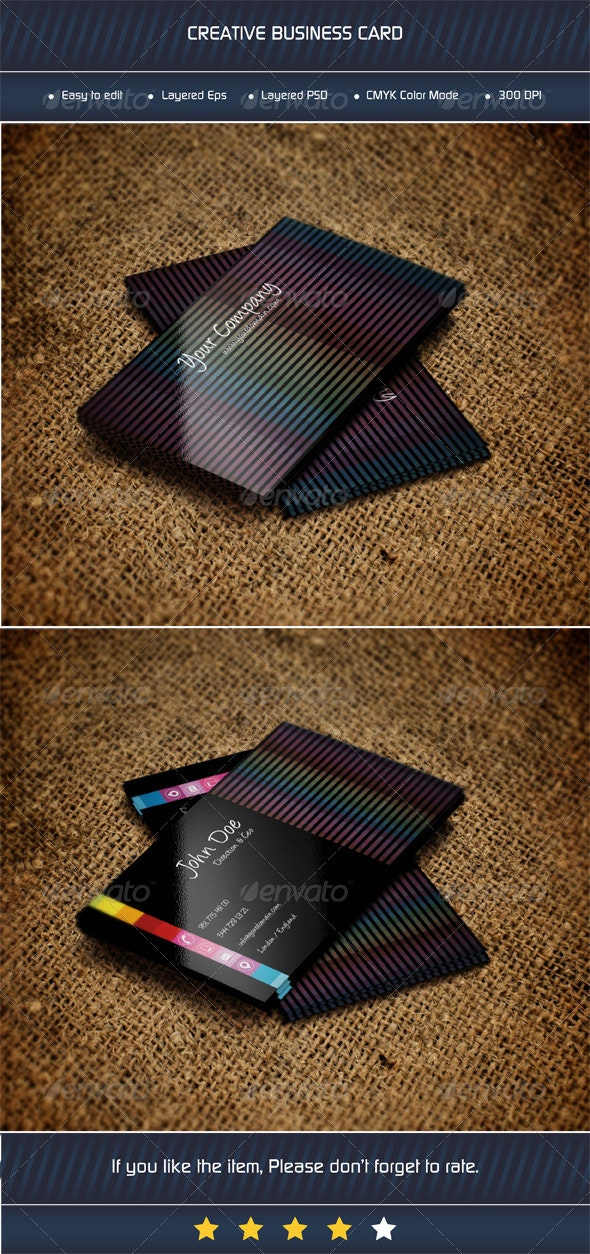 Abstract Business Card - Grunge Business Cards