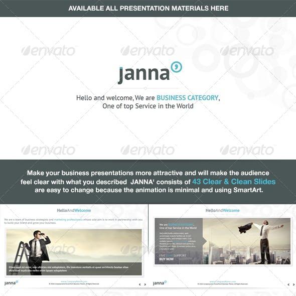 Janna - Clear & Clean Keynote Template