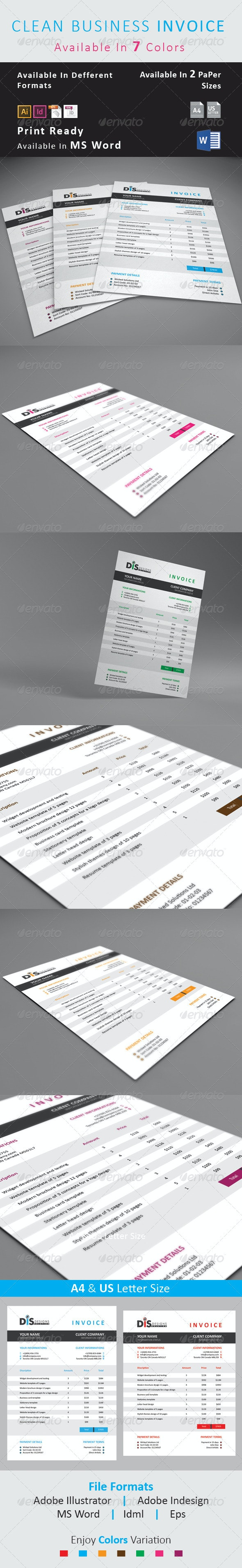 Business Invoice - Proposals & Invoices Stationery
